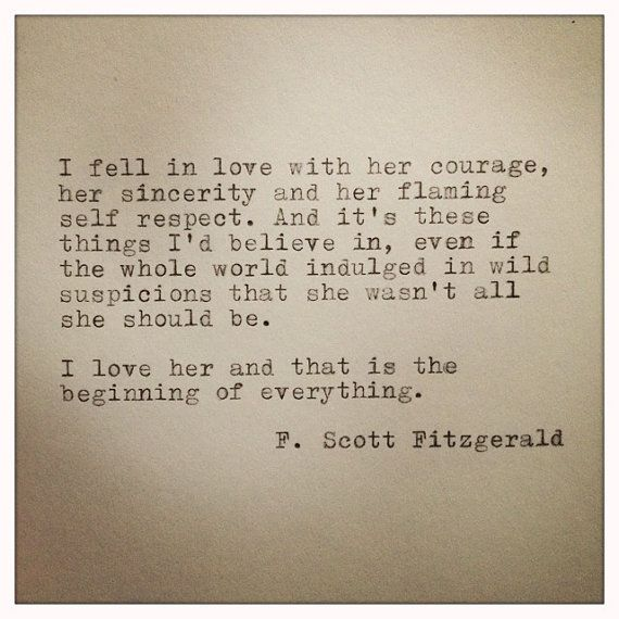 Scott Fitzgerald Framed Love Quote Made On Typewriter Love This How Special That A Man Wrote This About A Woman