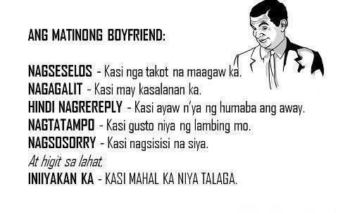 Ang Matinong Boyfriend Papogi A Collections Of Tagalog Love Quotes Online Sad Tagalog Quotes