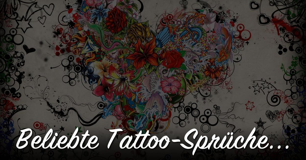 E   Beliebte Tattoo Spruche Topliste