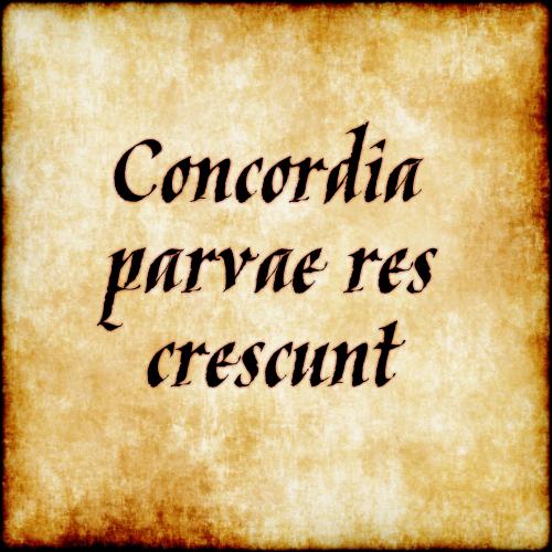 Concordia Parvae Res Crescunt Small Things Grow In Harmony  C B Lateinlateinische Zitatelateinische
