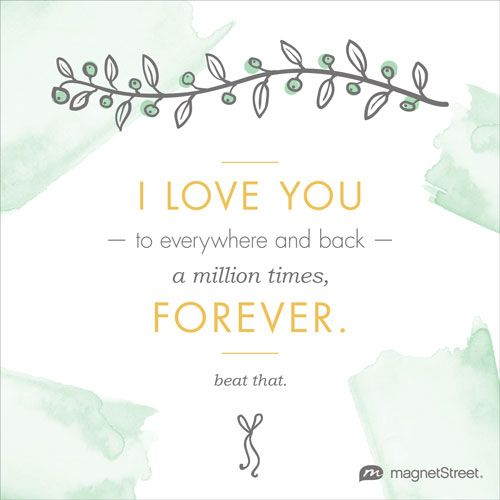 Modern Wedding Quote I Love You To Everywhere And Back A Million Times Forever