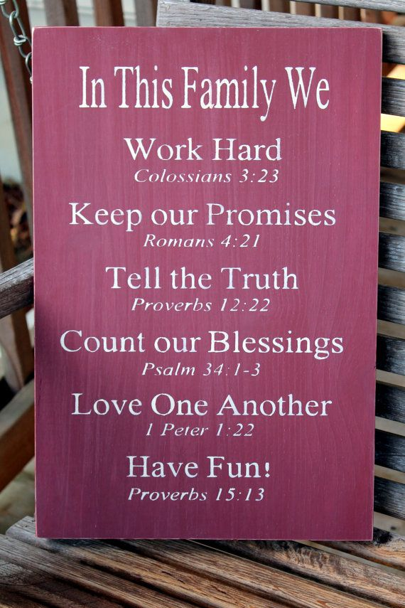 Christian Family Rules Sign Bible Verses Housewarming Gift Wood Sign House Rules Sign Christian Values Sign Family Values Sign