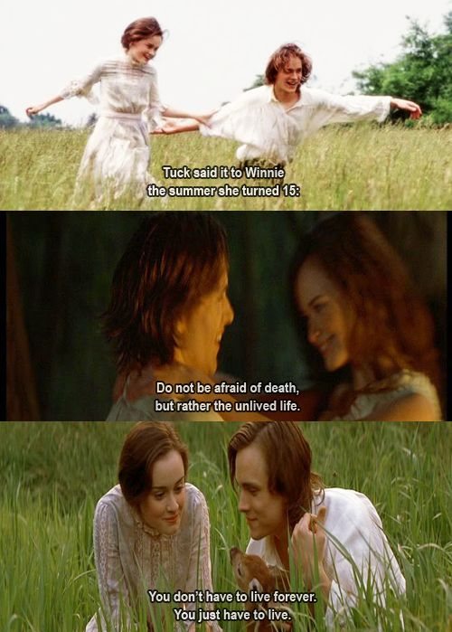 Tuck Everlasting Loved The Book And The Movie