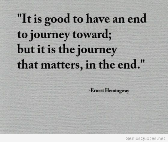 Ernest Hemingway About Journey