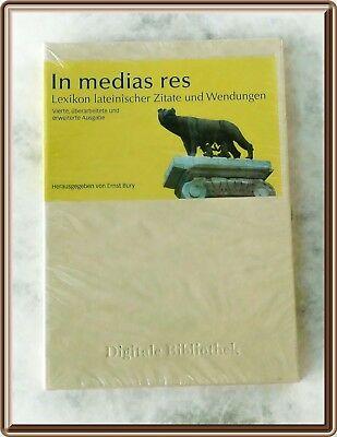 In Medias Res Lexikon Lateinischer Zitate Und Wendungen Cd Rom