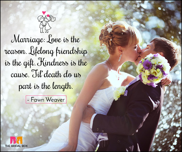Love Marriage Quotes Love Is The Reason