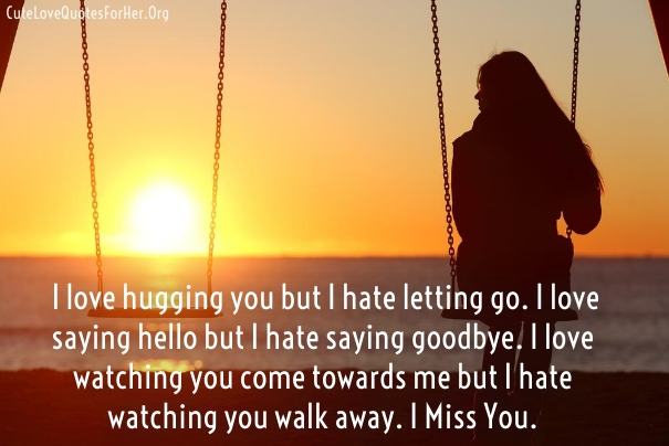Missing You Love Quotes For Boyfriend Husband
