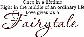 Once In A Lifetime Love Gives Us Atale