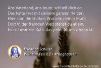 Schiller Zitat Ans Vaterland Ans Teure Schlies Dich An