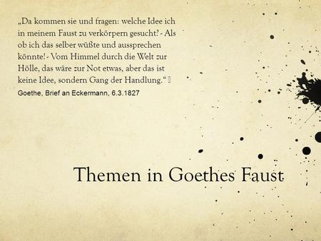 Themen In Goethes Faust