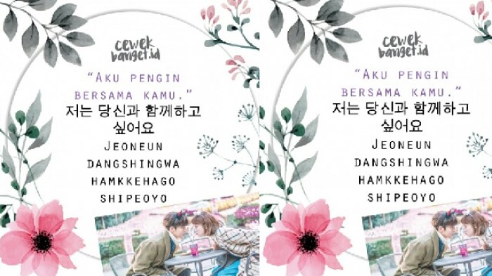 Kata Cinta Romantis Bahasa Korea Katakan Cintamu