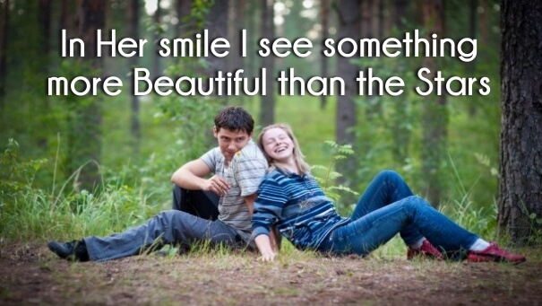 In Her Smile Cute One Line Love Quotes