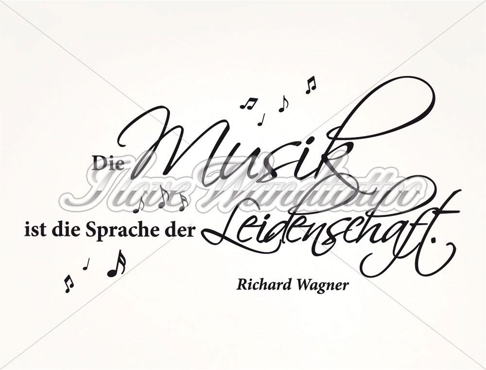 Wandtattoo Zitat Musik Ist Sprache Der Leidenschaft Von