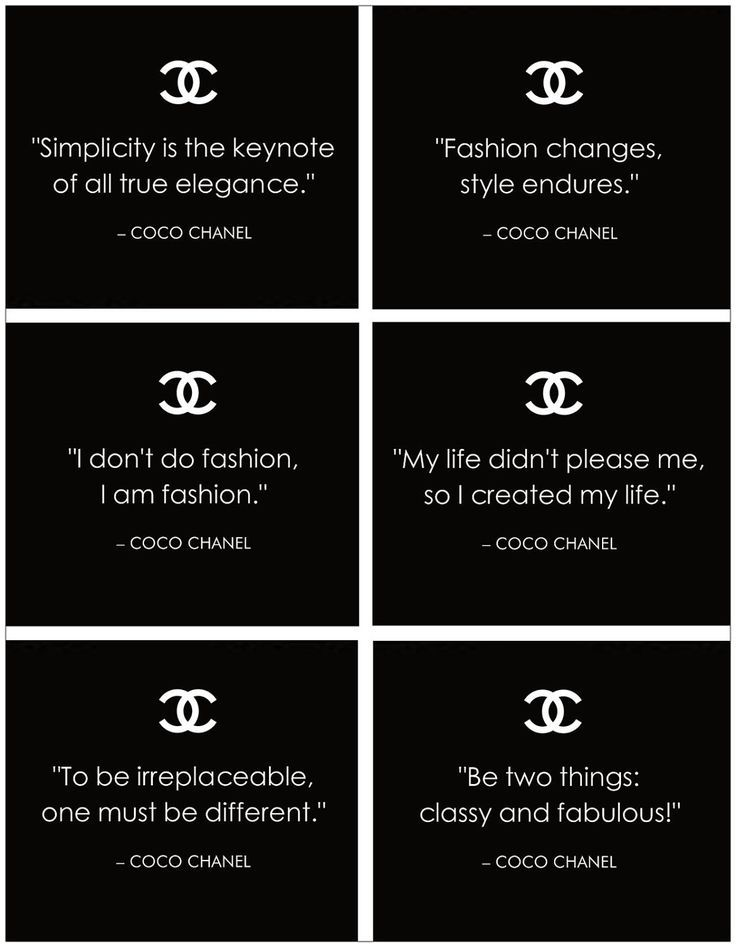 Meilleures Citations De Mode Des Crateurs Famous Coco Chanel