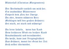 Blatterfall Christian Morgenstern