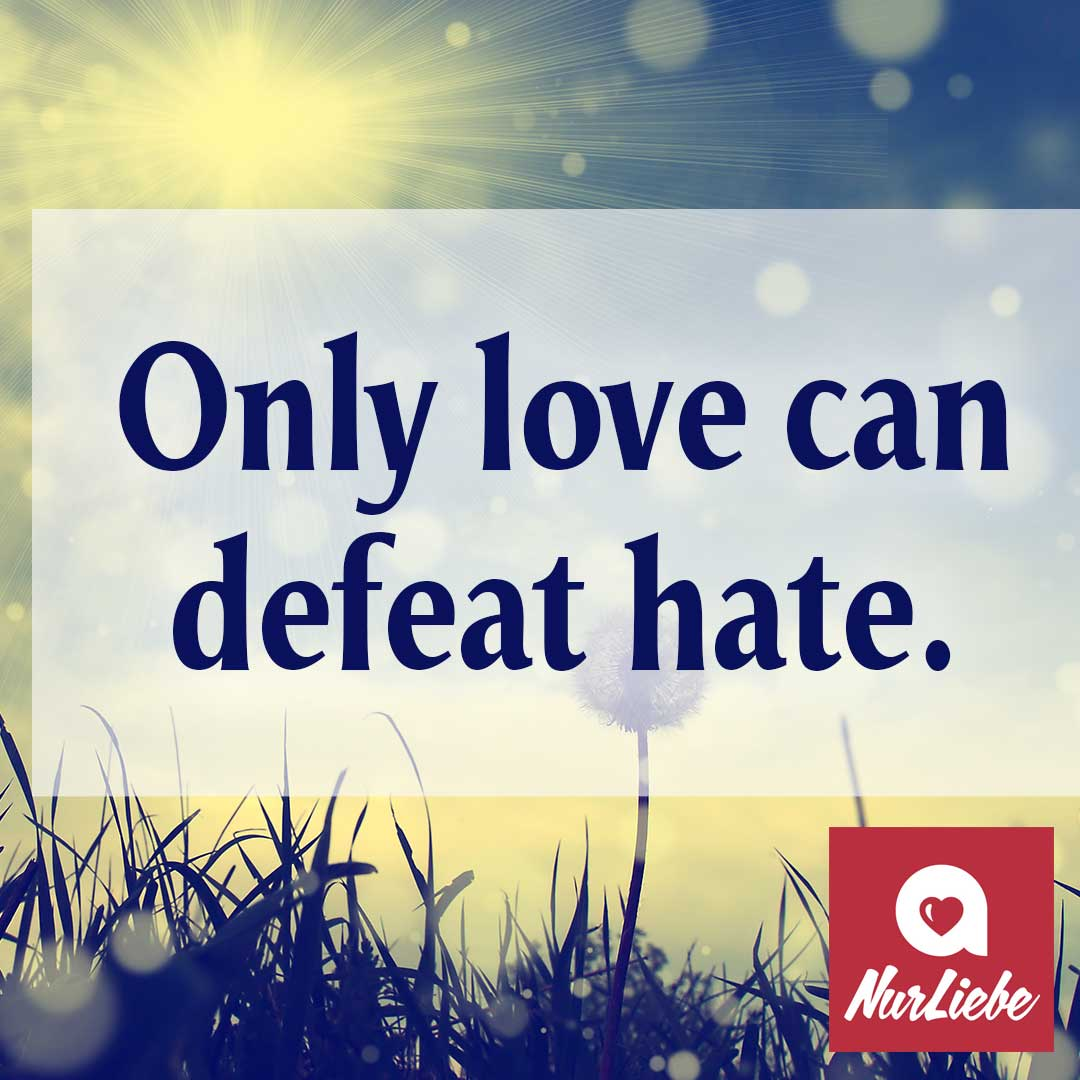 Englischer Spruch Only Love Can Defeat Hate