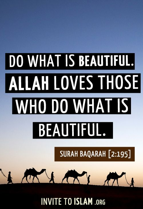 Invitetoislam Allah Loves Those Who Do What Is Beautiful Quran Quotes