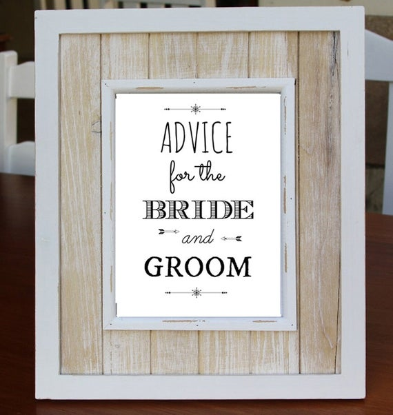 Advice For The Bride And Groom Digital Download Art Print Love Quote Instant Download Wedding Gift Guest Book Alternative