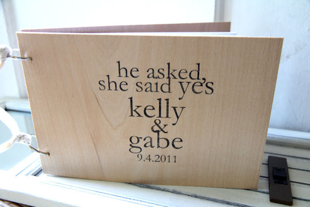 A Sweet  Wooden Guest Book Alwith Custom Names And Date This Book Has  Blank White Leaves And Is Held Together By