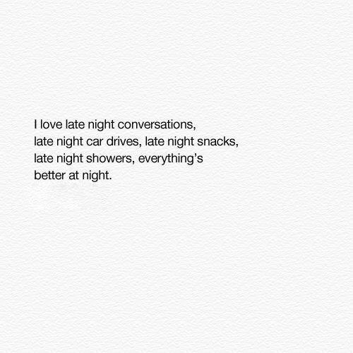 Love Quote And Night Image
