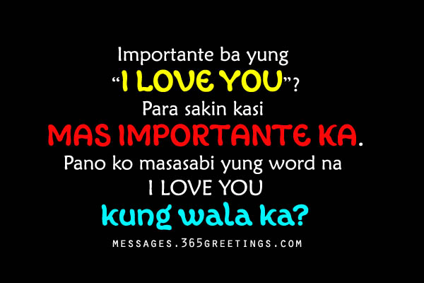 Love Quotes For Him Tagalog