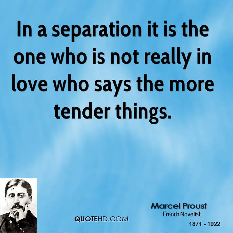 In A Separation It Is The One Who Is Not Really In Love Who Says The