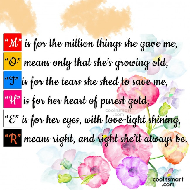 Mother Quote M Is For The Million Things