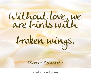 Sayings About Love Without Love We Are Birds With Broken Wings