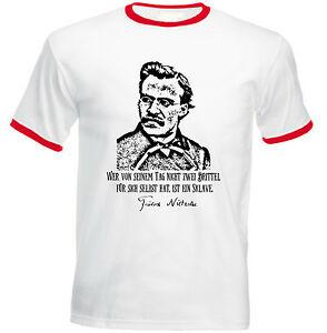 Caricamento Dellimmagine In Corso Friedrich Nietzsche Sklave Zitate New Red Ringer T