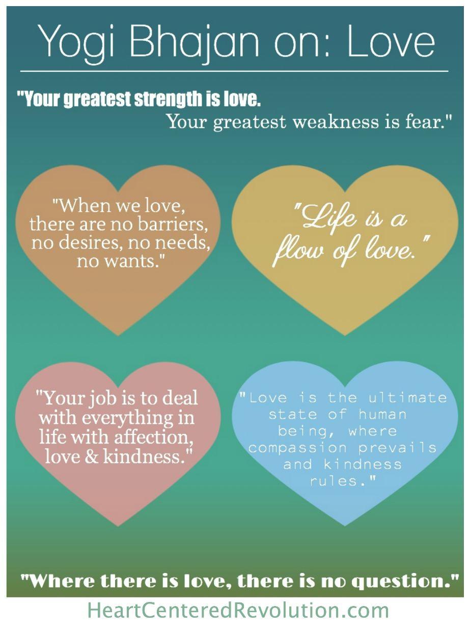 Yogi Bhajan Quotes About Love