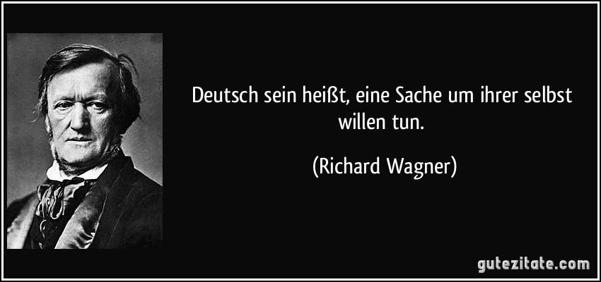 Richard Wagner Deutsch Sein Heit Eine Sache Um Ihrer Selbst