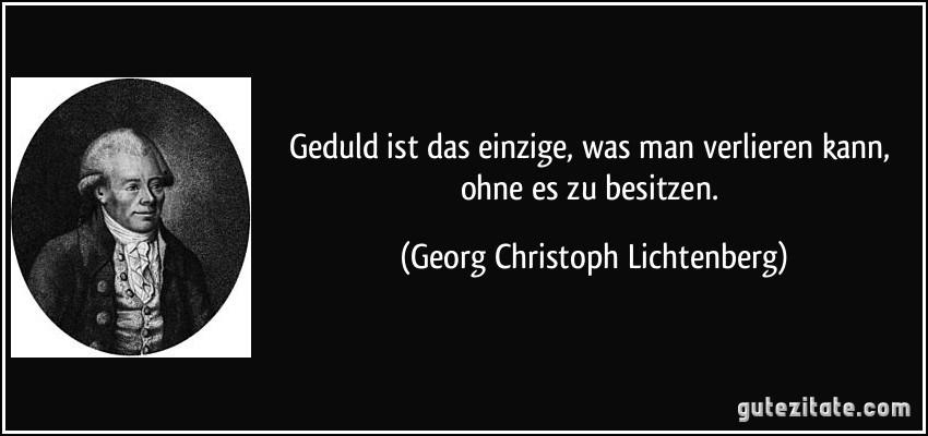 Georg Christoph Lichtenbergters Welt
