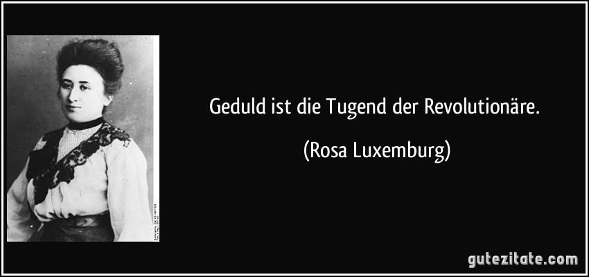 Geduld Ist Tugend Der Revolutionare Rosa Luxemburg