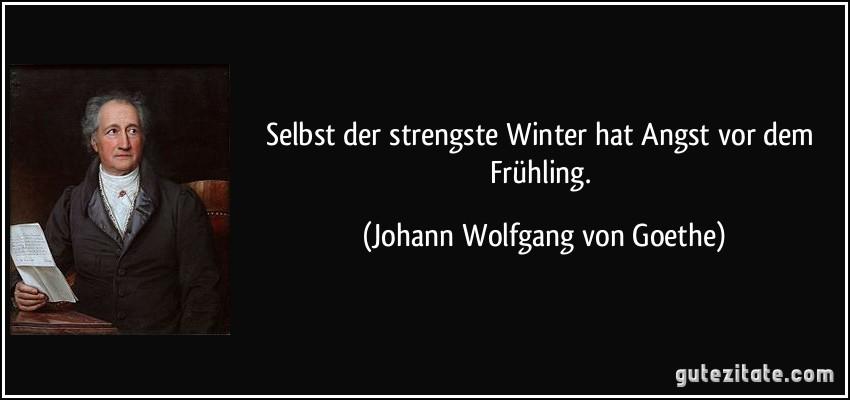 Selbst Der Strengste Winter Hat Angst Vor Dem Fruhling