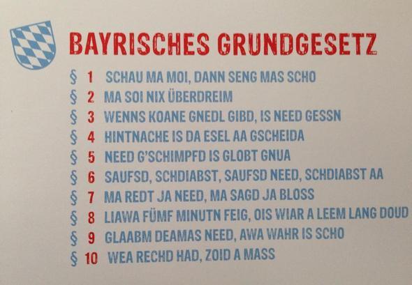 Bayrisches Grundgesetz Deutsch Jungs Englisch