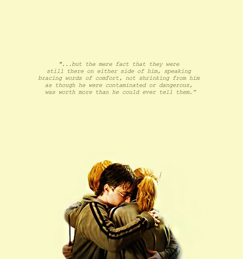 The Golden Trio Harry Ron And Hermione