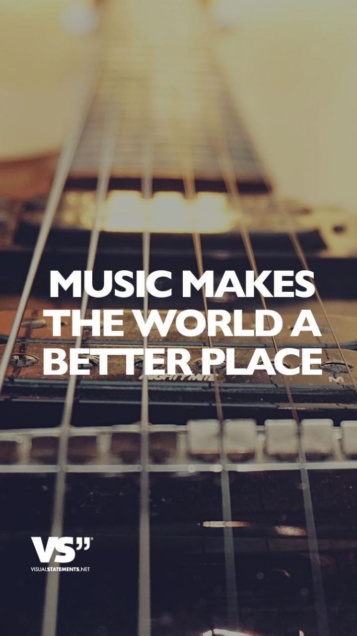 Visual Statements Music Makes The World A Better Place Spruche Zitate Quotes Musik Tiefgrundig Lustig Schon Nachdenken