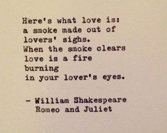 Romeo And Juliet Quote By William Shakespeare Typewritten Greeting Card