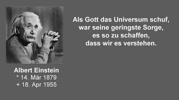 Albert Einstein Gott Und Das Universum