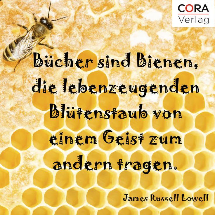 Bucher Sind Bienen Lebenzeugenden Blutenstaub Von Einem Geist Zum Anderen Tragen James Russell Lowell