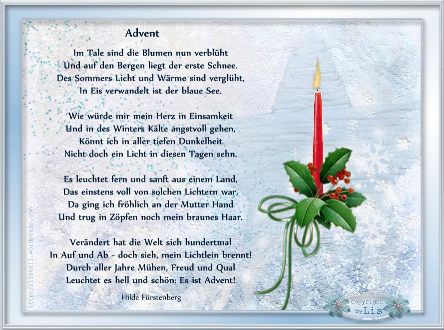 Advent Gedichte Zitate In Einklang Mit Bilder