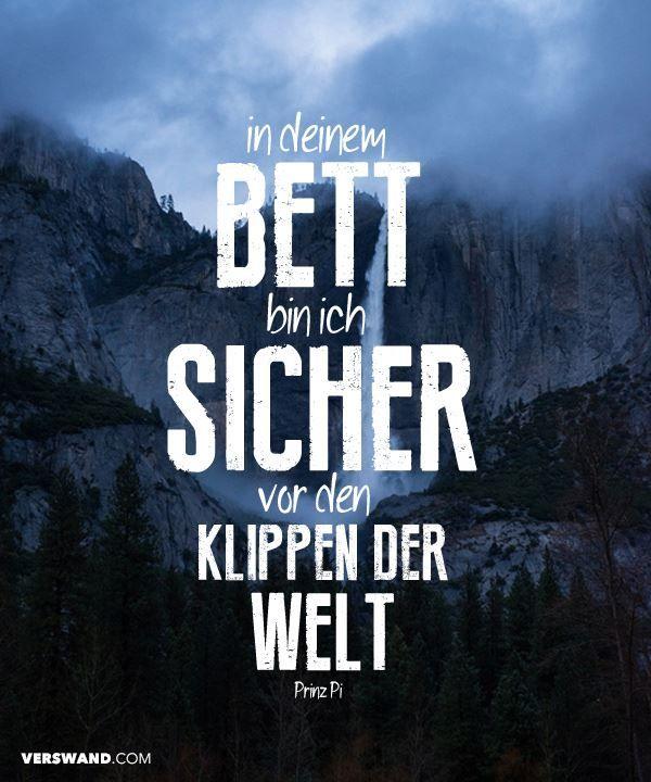 In Deinem Bett Bin Ich Sicher Vor Den Klippen Der Welt Prinz Pi Visual Statements Deutschrap Zitaterapper Zitatesong