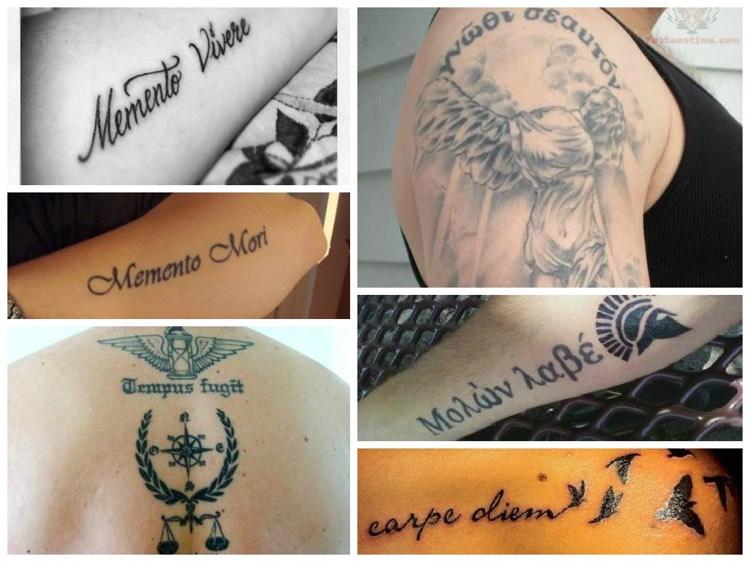 Tattoo Spruche Latein Altgriechisch Bedeutung  Vorschlage Fur Kurze Tattoo Spruche Auf Latein Und Griechisch
