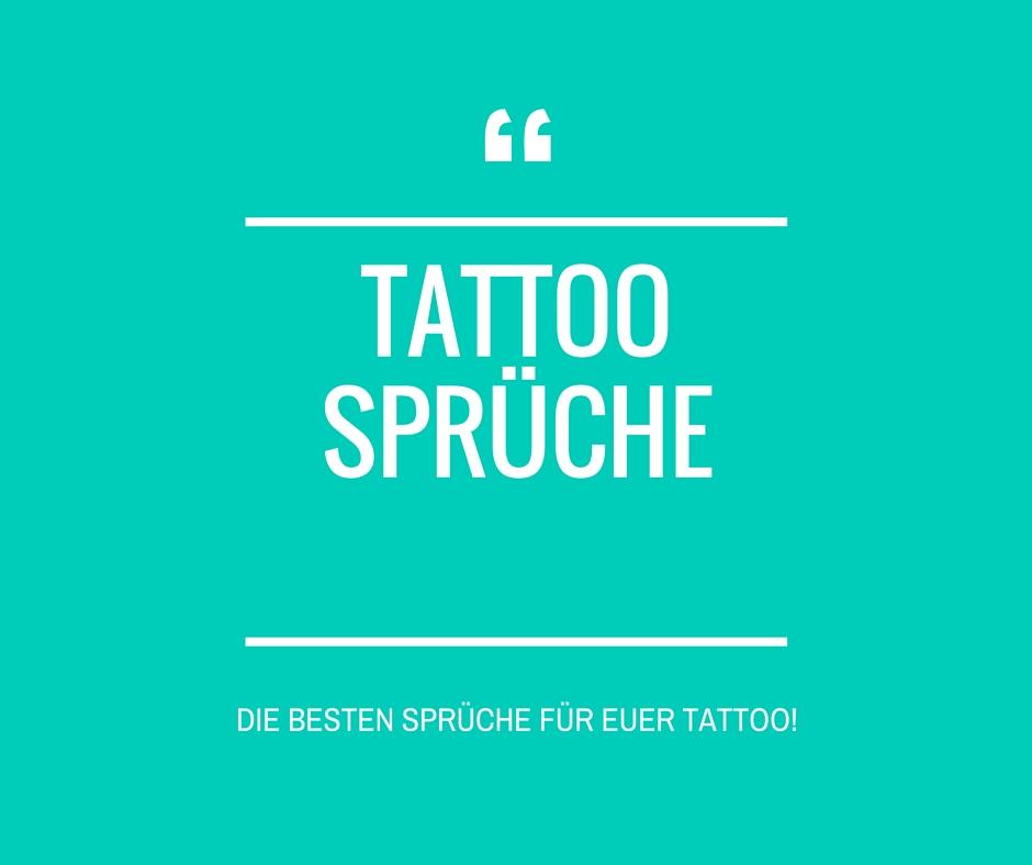 Tattoo Spruche