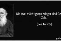Zwei Machtigsten Krieger Sind Geduld Und Zeit Leo Tolstoi