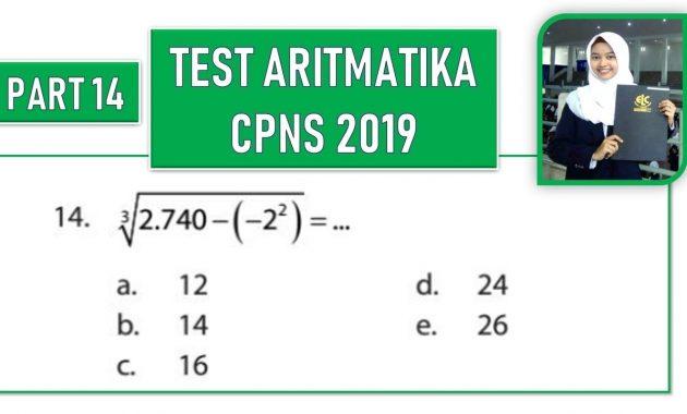Contoh Soal CPNS 2019: BAHAS TUNTAS SOAL TEST ARITMATIKA ...