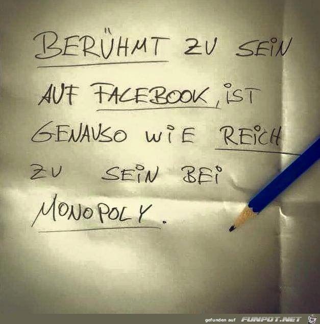 Jaeher Auf Facebook Beruhmt Zu Seinist Genauso Wie Bei Monopoly Reich Zu