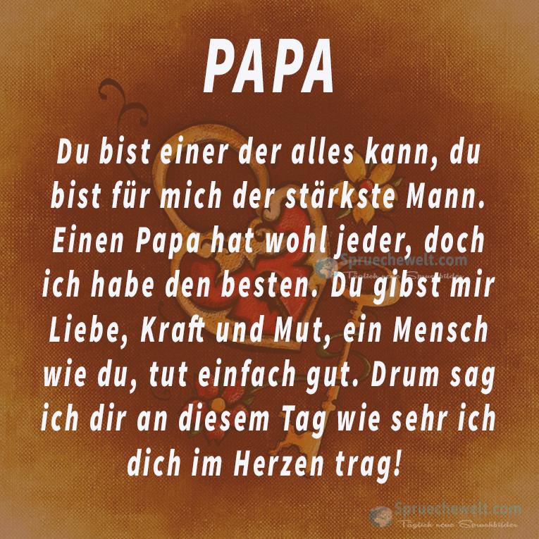 Papa Du Bist Einer Der Alles Kann Wisdomoflife Pinterest Du Bist Vatertag Und Spruche