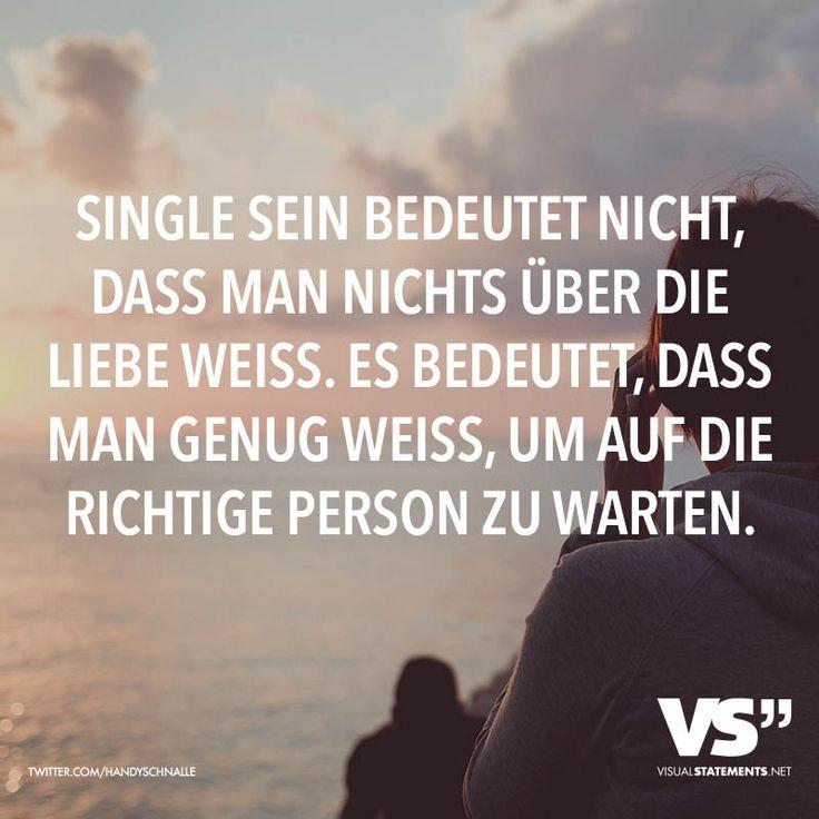 Single Sein Bedeutet Nicht Dass Man Nichts Uber Liebe Weiss Es Bedeutet Dass Man Genug Weiss Um Auf Richtige Person Zu Warten