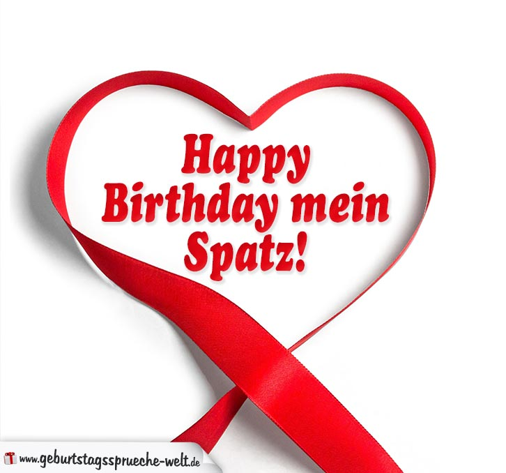Geburtstagskarte Fur Verliebte Happy Birthday Mein Spatz